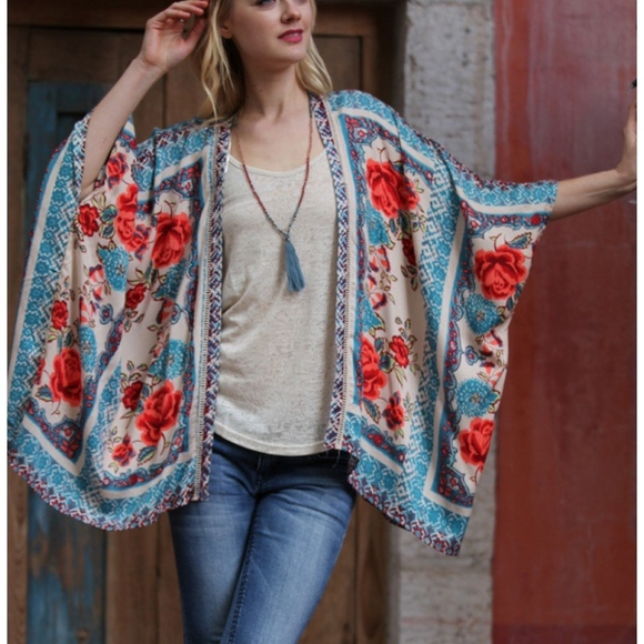 c6eb3554a05ce New Womens Plus Size Kimono Top Cover Up Outer